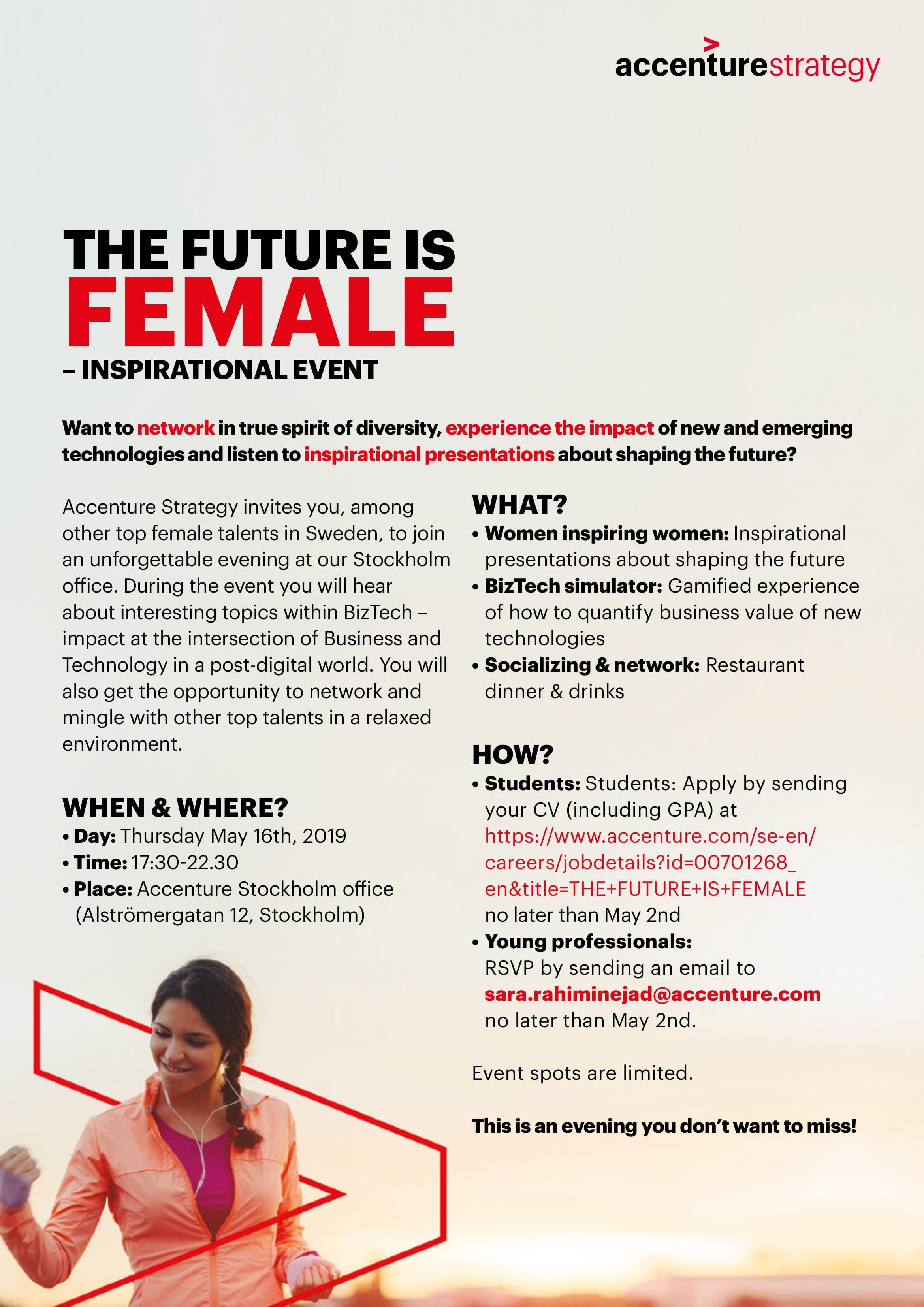 Accenture Female Event