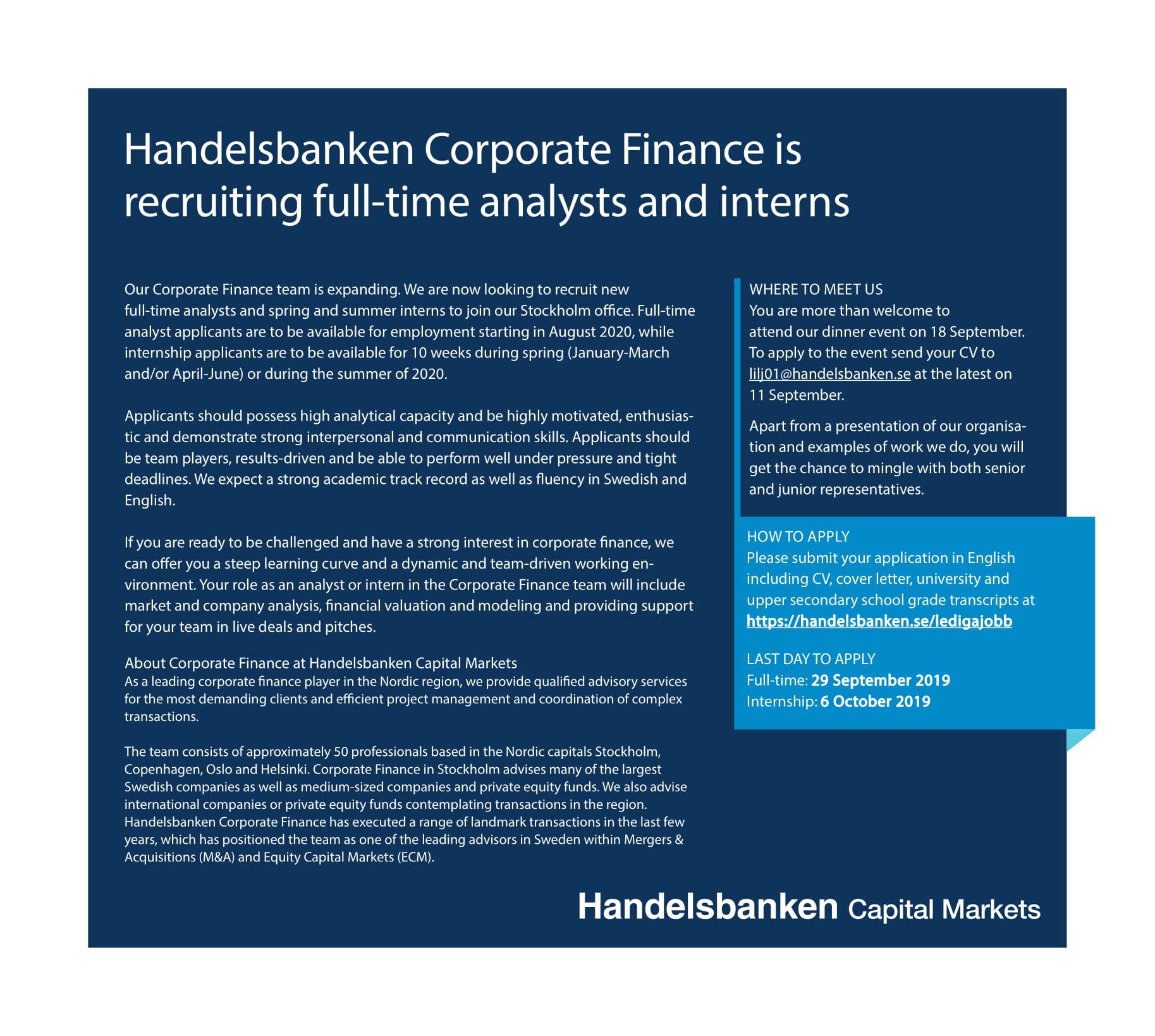 SHB_Fulltime_Internship