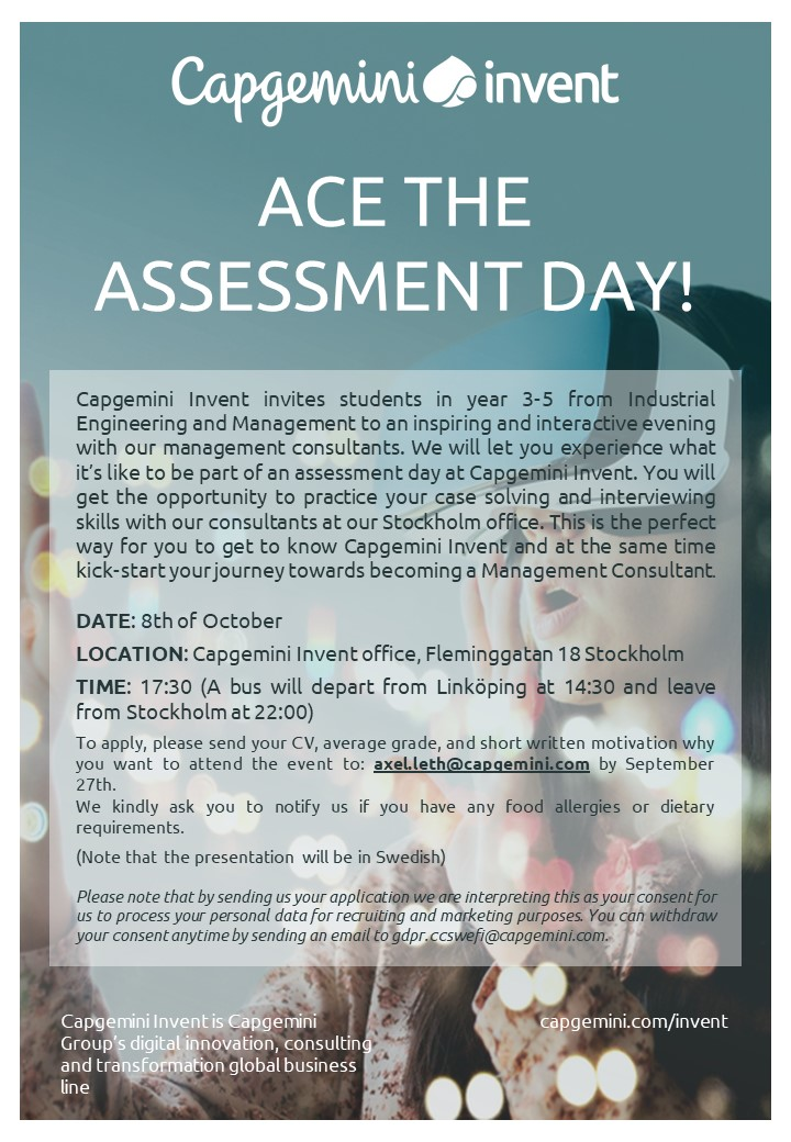 Capgemini Invent - Ace the Assessment Day
